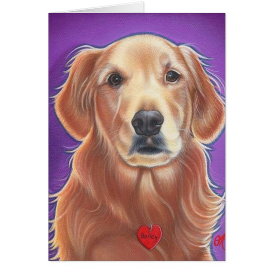 Golden Retriever Wild Dog Card