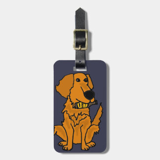 Golden Retriever with Beer Bottle Bag Tag