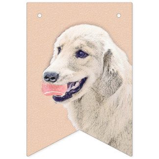 Golden Retriever with Tennis Ball Bunting