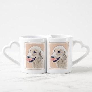 Golden Retriever with Tennis Ball Coffee Mug Set