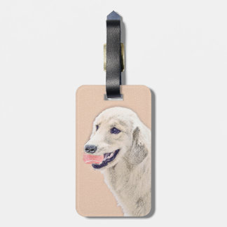 Golden Retriever with Tennis Ball Luggage Tag
