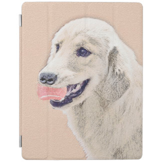 Golden Retriever with Tennis Ball Painting Dog Art iPad Cover