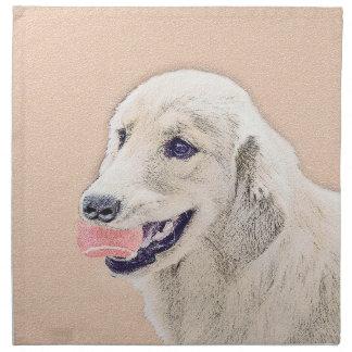 Golden Retriever with Tennis Ball Painting Dog Art Napkin