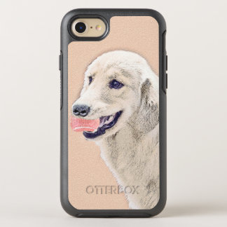 Golden Retriever with Tennis Ball Painting Dog Art OtterBox Symmetry iPhone 8/7 Case