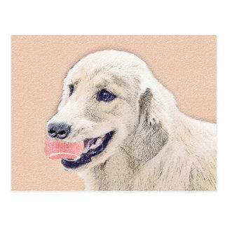 Golden Retriever with Tennis Ball Painting Dog Art Postcard