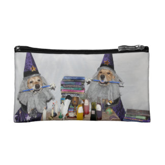 Golden Retriever Wizard's Workshop Cosmetics Bags