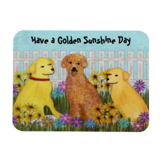 Golden Retrievers Premium Magnet