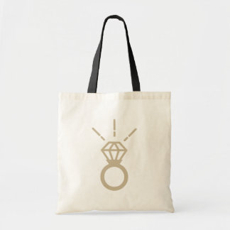 Golden ring budget tote bag