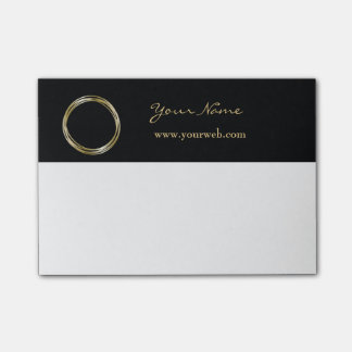 Golden Ring Set The Minimalist Black Gold LOGO Post-it Notes