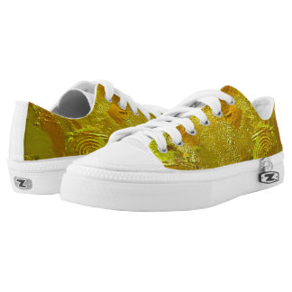 Golden Rings Low cut canvas Printed Shoes