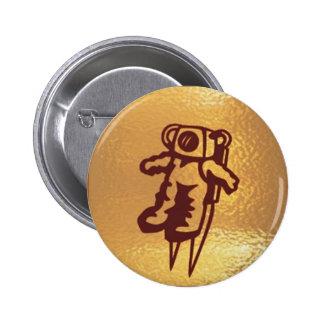 Golden Robot Astronaut Button