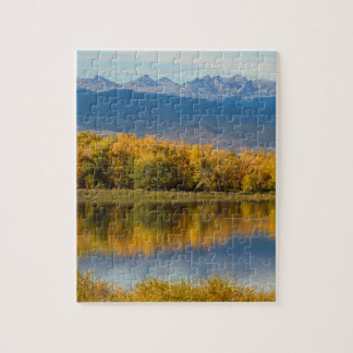 Golden Rocky Mountain Front Range View Jigsaw Puzzle