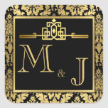Golden Romance Art Deco Envelope Seal
