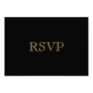 Golden Romance Art Deco RSVP Card