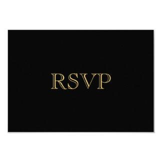 Golden Romance Art Deco RSVP Card 9 Cm X 13 Cm Invitation Card