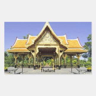 Golden Roof Pavilion Thailand Rectangular Sticker