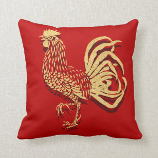 Golden Rooster Chinese Cushion