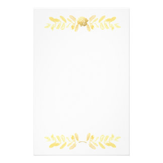 Golden Rose and leaves Stationery Design