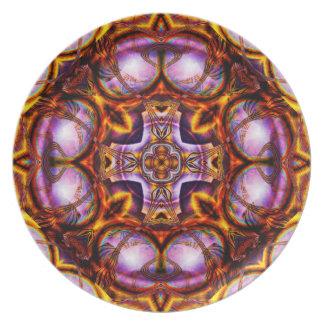 Golden Rose Cross  Plate
