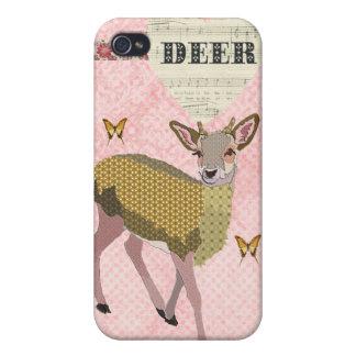 Golden Rose Deer & Butterflies i Covers For iPhone 4
