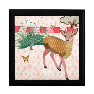 Golden Rose Deer & Peacock Pink  Gift Box