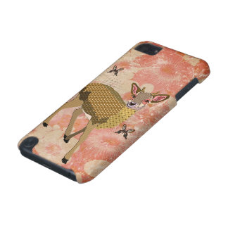 Golden Rose Deer Pink iPod Case iPod Touch 5G Cases