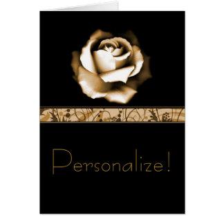 Golden Rose Greetings Card