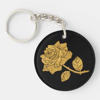 Golden Rose Key Ring
