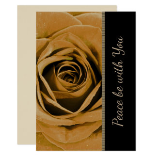 Golden Rose Peace Be with You Card