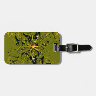 Golden Rose Petals Abstract Blots Luggage Tag