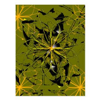 Golden Rose Petals Abstract Blots Postcard