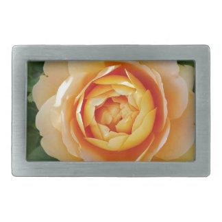 Golden rose rectangular belt buckles