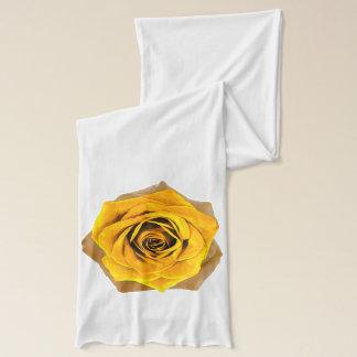 Golden Rose shown on White Scarf