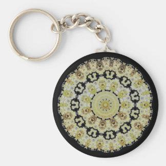Golden Roses Kaleidoscope keychain