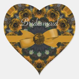 Golden Roses Mandala Wedding Sticker