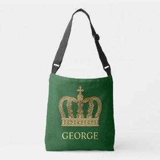 Golden Royal Crown II + your backgr. & ideas Crossbody Bag