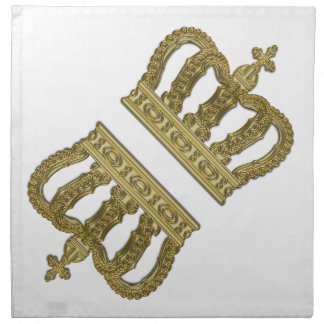 Golden Royal Crown II + your backgr. & ideas Napkin