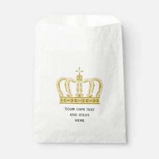 Golden Royal Crown + your backgr. & ideas Favour Bag