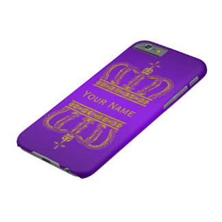 Golden Royal Crown + your backgr. & text Barely There iPhone 6 Case