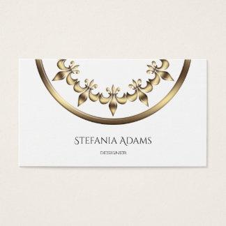 Golden Royal Fleur-de-Lis element. Business Card