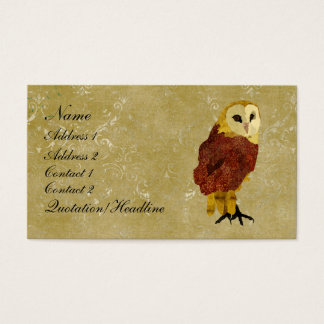 Golden Ruby Owl Business Card/Tags Business Card