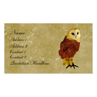 Golden Ruby Owl Business Card/Tags Pack Of Standard Business Cards