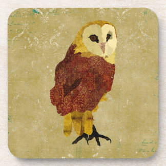 Golden Ruby Owl Coaster