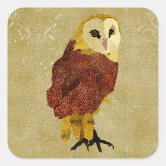 Golden Ruby Owl Sticker