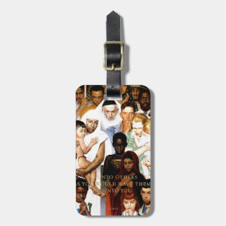 Golden Rule (Do unto others) by Norman Rockwell Luggage Tag