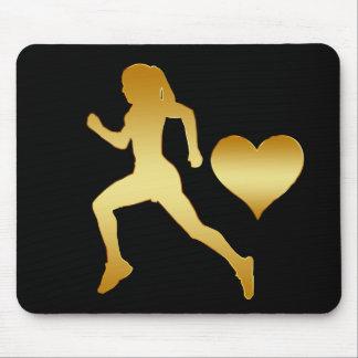 GOLDEN RUNNER & HEART MOUSE PAD