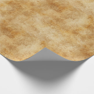 Golden Rustic Texture Wrapping Paper