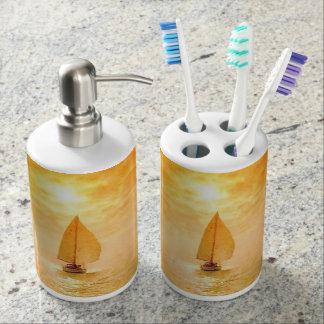 Golden Sail Bath Set