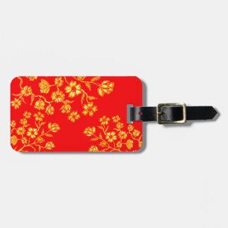 Golden Sakura Art 3 Luggage Tag