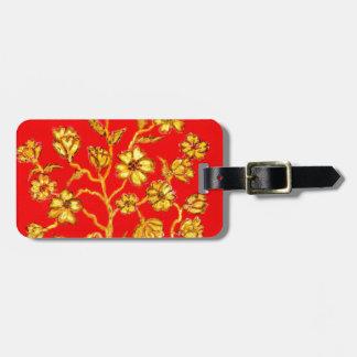 Golden Sakura Art Luggage Tag